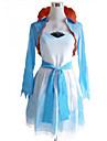 Inspirerad av RWBY Weiss Schnee anime Cosplay dräkter cosplay Suits / Klänningar Lappverk Vit / Blå Kappa / Klänning