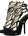 Couro das mulheres do estilete calcanhar aberto Sandalias Shoes (mais cores)