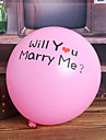 """Will You Marry Me"" Pink Balloon - Set of 24 Coral Wedding"
