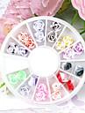 24PCS 12-Color Polymer Glada Rose Nail Art Decoration