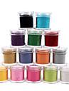 1PCS Velvet Nail Art decoratieve Poeder (verschillende kleuren)