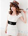 Women Faux Leather Waist Belt,Vintage Alloy