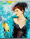IARTS®Hand Painted Oil Painting People Sexy Lady with Stretched Frame Ready to Hang