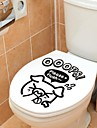 Djur Pig Toalett Postat Wall Stickers