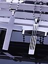 Personlig Present Män s rostfritt stål smycken kors formade Graverad hängande halsband med 60cm Kedja