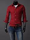 För män Plädar Enkel skjorta