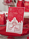 Red Classic Theme Laser Cut Wedding Invitation - Set of 50