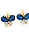 Couleur d\'oreilles en cristal papillon Double vintage de Miss U Femmes