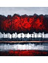 Hand Painted Oil Painting Abstract Woods Oil Painting with Stretched Frame
