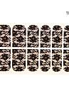 12PCS näckros Form Black Lace Nail Art Stickers NO.16