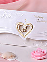 Wedding Invitation Heart Design With Flower (Set of 50)