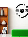"""15.75""""H Brief Number Style Mirror Wall Clock"""