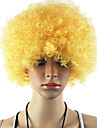Les fans noire afro perruque bulkness Cosplay Halloween Noel Perruque Blond dore perruque 1pc/lot