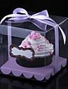 Mooie Cubic PVC Cupcake Wrapper en Dozen met lint - set van 12 (meer kleuren)