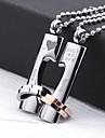 Personlig gåva-Guld Silver-Rostfritt stål-Dekorativa Halsband- tillUnisex