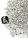 300st 3D Silver femuddig stjärna Alloy Nail Art Golden & Silver Dekorationer