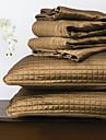 huani® täcke set, 3 st pläd champagne gul polyester