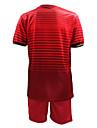 för män korta ärmar fotboll kostym vinrött