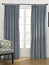 modernes deux panneaux solides chambre bleue rideaux du panneau de melange de coton poly opaques