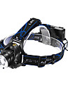 Belysning Pannlampor LED 1200 Lumen 3 Läge Cree XM-L T6 18650 Justerbar fokus / Vattentät / Laddningsbar Multifunktion Aluminiumlegering