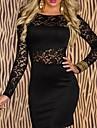 XiXiangYi® Women\'s Sexy Long Sleeve Cotton and Spandex Mini Dress