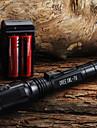 LED-Ficklampor / Ficklampor LED 400 Lumen 1 Läge Cree XR-E Q5 18650 / AA Justerbar fokusCamping/Vandring/Grottkrypning /