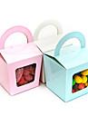 Eenvoudige Cupcake doos met handvat - Set van 12 (meer kleuren)