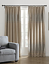 (Two Panels) Elegant Silver Stripe Blackout Curtain