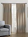 neoclassiques deux panneaux bande kaki rideaux a panneaux en polyester de chambre rideaux