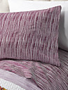"Sheet Set ,4-Piece Microfiber Stripe Burgundy med 12 ""Fickdjup"