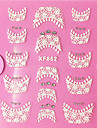 3D Rhinestone French Lace Nail Art Stickers XF-seriens NO.862