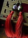 Women\'s Bardian Tassel Multicolor Hook Drop Earrings