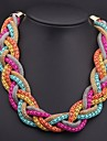 țesute colier multi-colorate femei