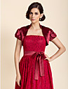 Wedding  Wraps Shrugs Short Sleeve Satin As Picture Shown Wedding / Party/Evening High Neck Puff Balloon Open Front