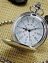 Men\'s Mirror Round Roman numeral Dial Vintage Quartz Analog Pocket Watch