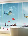 requin sticker mural motif (1pcs)