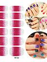 28st glitter lutning ramp nagel konst klistermärken m serie No.103