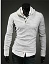 LangTuo Mushroom Design Bouton manches Tricot Longue chemise (gris clair)