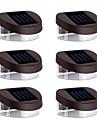 6st 2LED Solar Lights Vägglampor Stair Lights ljusbarriär Walkway Belysning Utomhusbelysning
