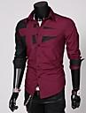 Men\'s Long Sleeve Blending Fashion Shirt