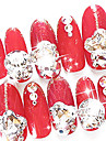 10ST MiXs Mönster Glitter Glass Drill Nail Art Dekorationer
