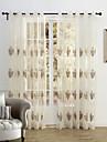 land två paneler blom- botaniska beige sovrum polyester ren gardiner nyanser