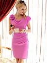 floare păpușă roz rochie fără mâneci, capota bodycon