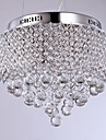40W Modern/Contemporary Crystal Chrome Metal Flush Mount Living Room