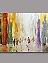 Abstract Oil Painting with Stretched Frame Ready to Hang Hand-Painted Canvas