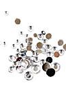 500pcs taille mixs acrylique blanc diamant Decorations Nail Art