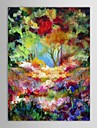 iarts®hand peintes peinture a l\'huile paysage paysage de nature arbres fleurs avec cadre etire