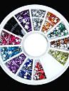 600st 12colours stjärnform akryl strass hjul nail art dekoration