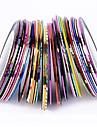 38pcs couleurs melangees rouleaux ligne de striping tape autocollant nail art decoration