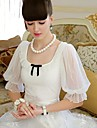 Pink Doll® Women's Piping Mesh Bow Puff Sleeve Slimming T-shirt